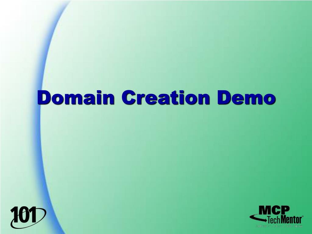 Domain Creation Demo