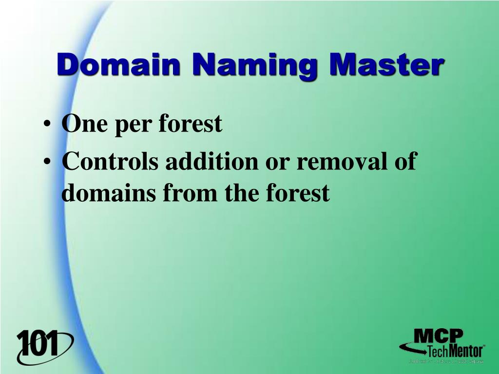 Domain Naming Master