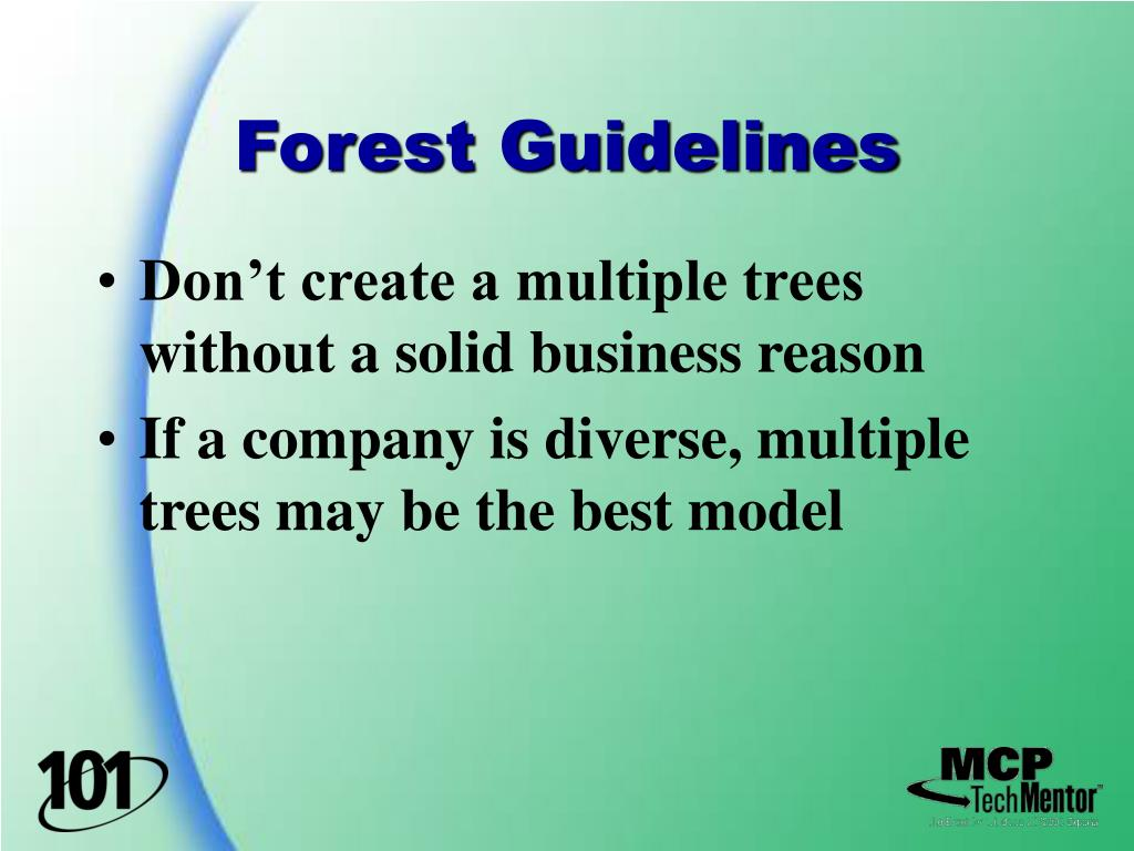 Forest Guidelines