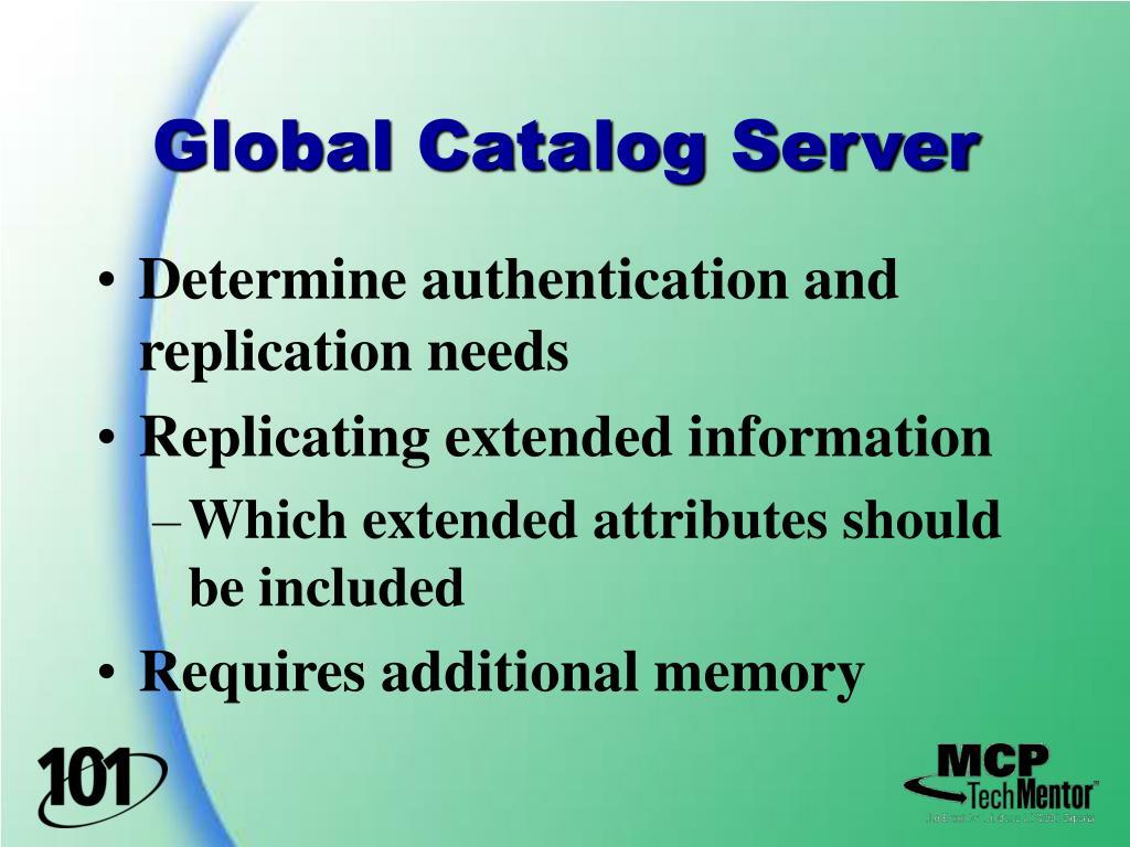 Global Catalog Server