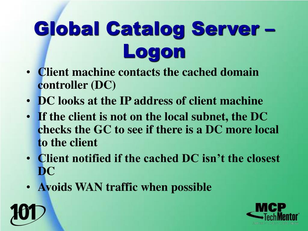 Global Catalog Server – Logon
