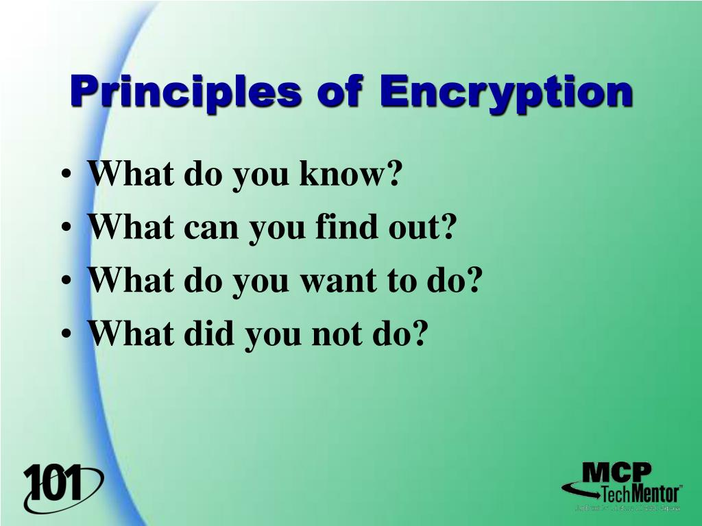 Principles of Encryption