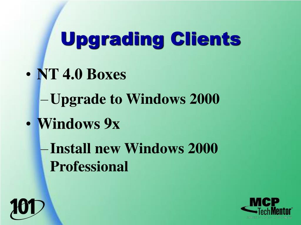 Upgrading Clients