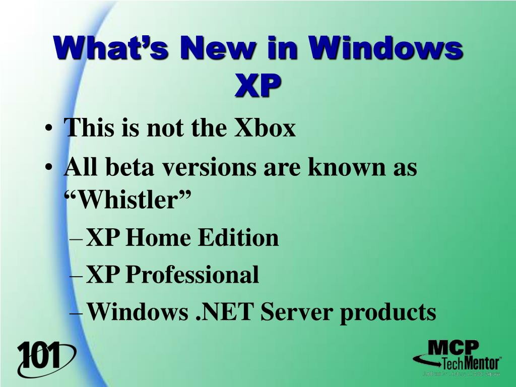 What's New in Windows XP