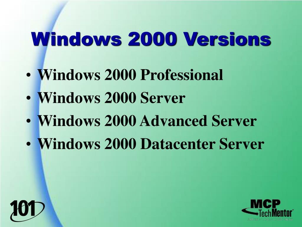 Windows 2000 Versions