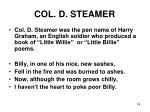 col d steamer