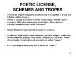 poetic license schemes and tropes