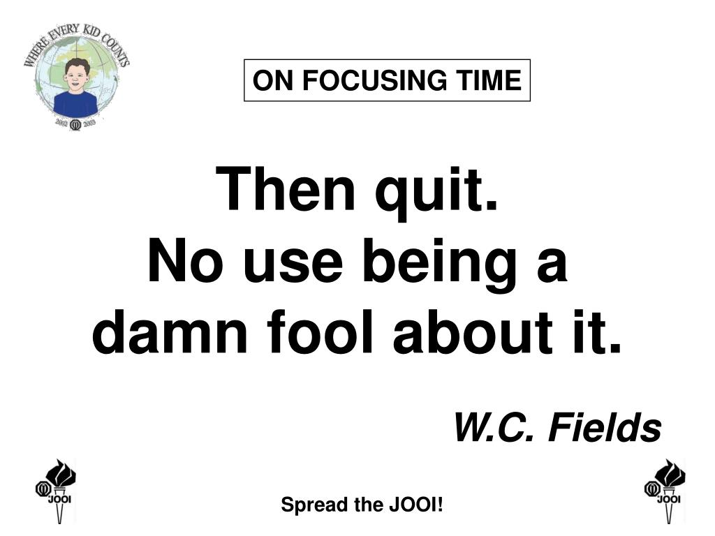 ON FOCUSING TIME