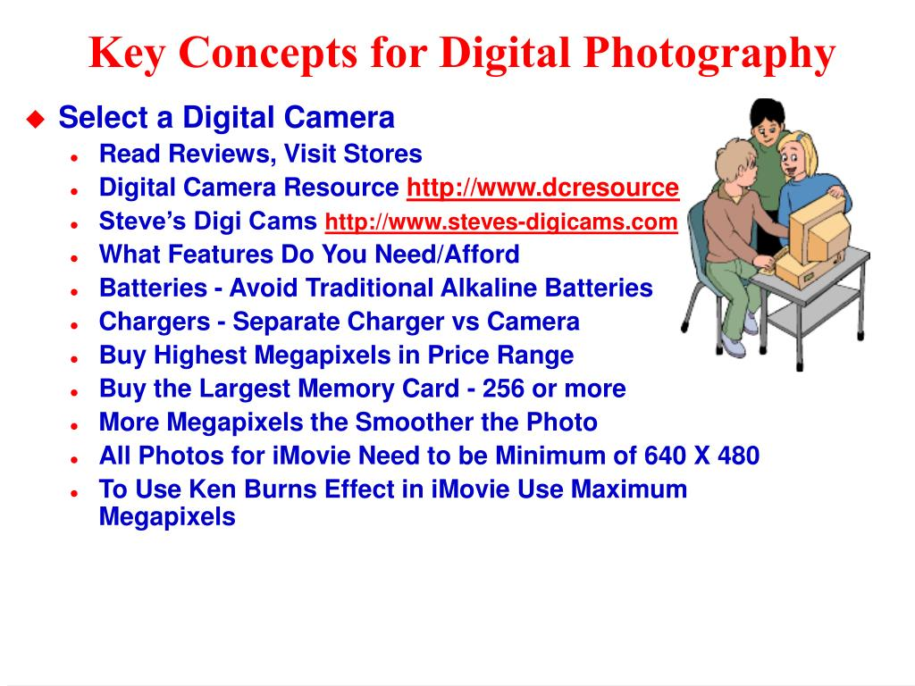 Key Concepts for Digital Photography