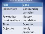 correlational studies19