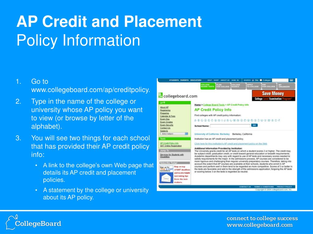AP Credit and Placement