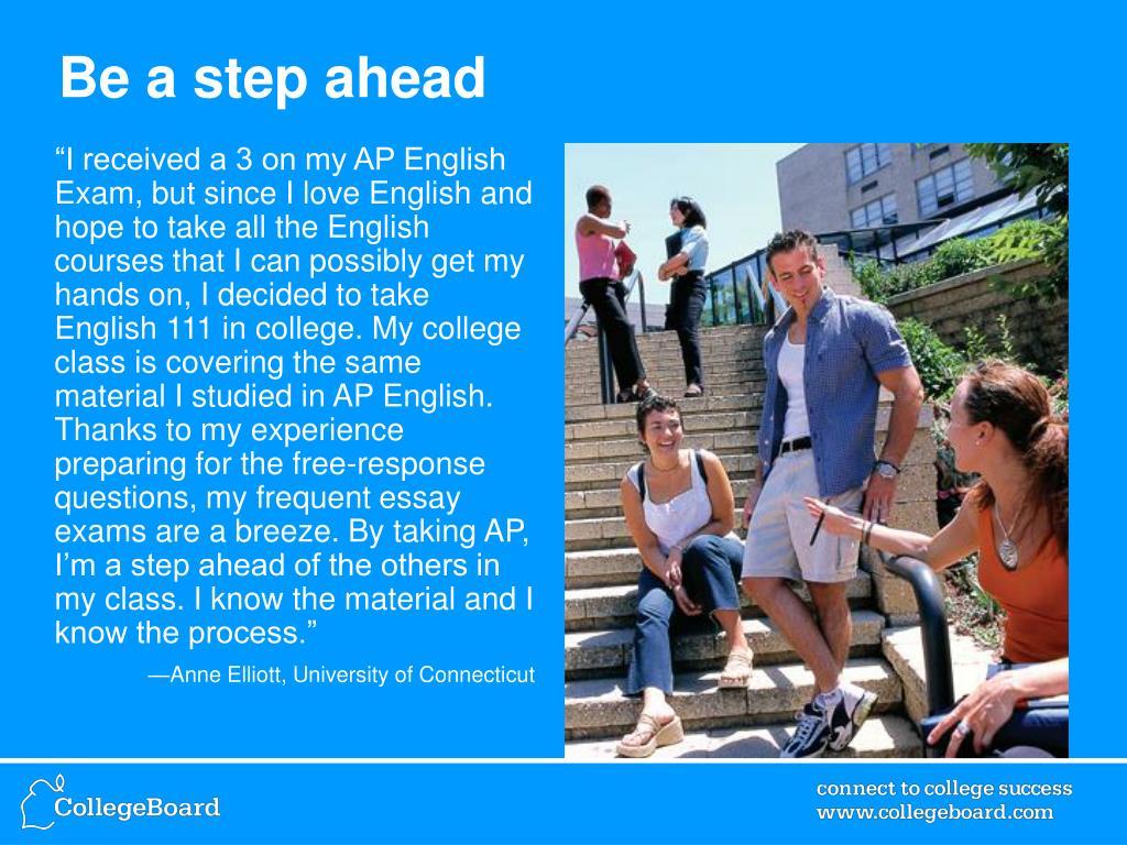 Be a step ahead