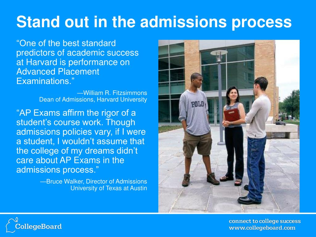 Stand out in the admissions process