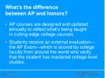 what s the difference between ap and honors