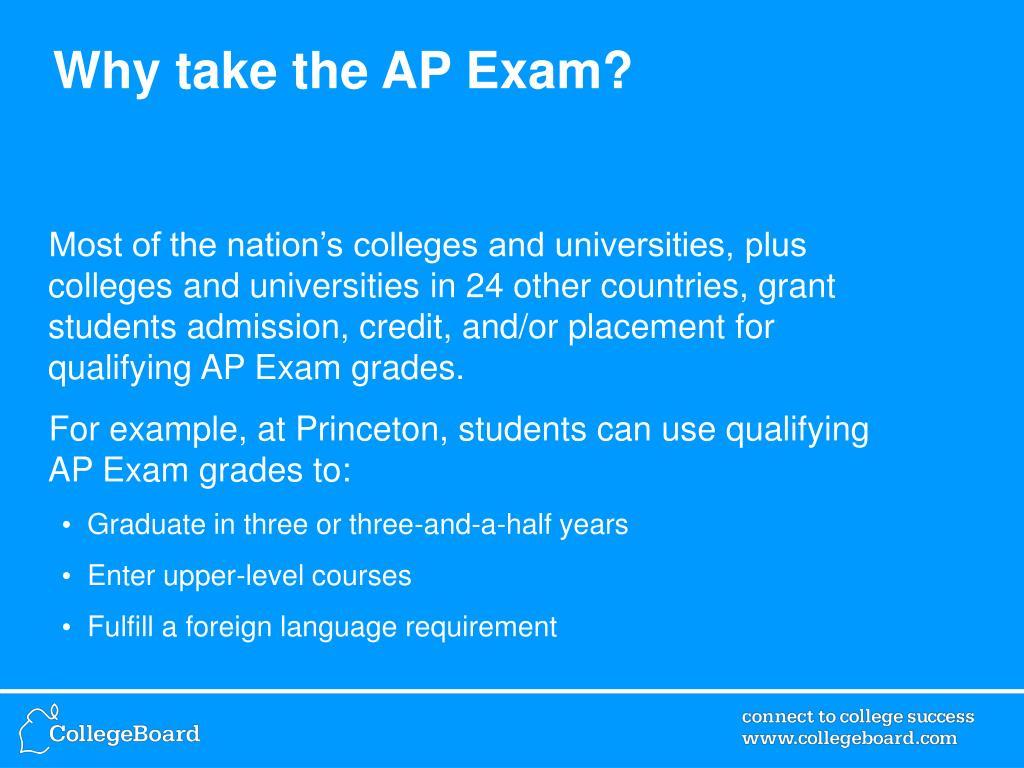 Why take the AP Exam?