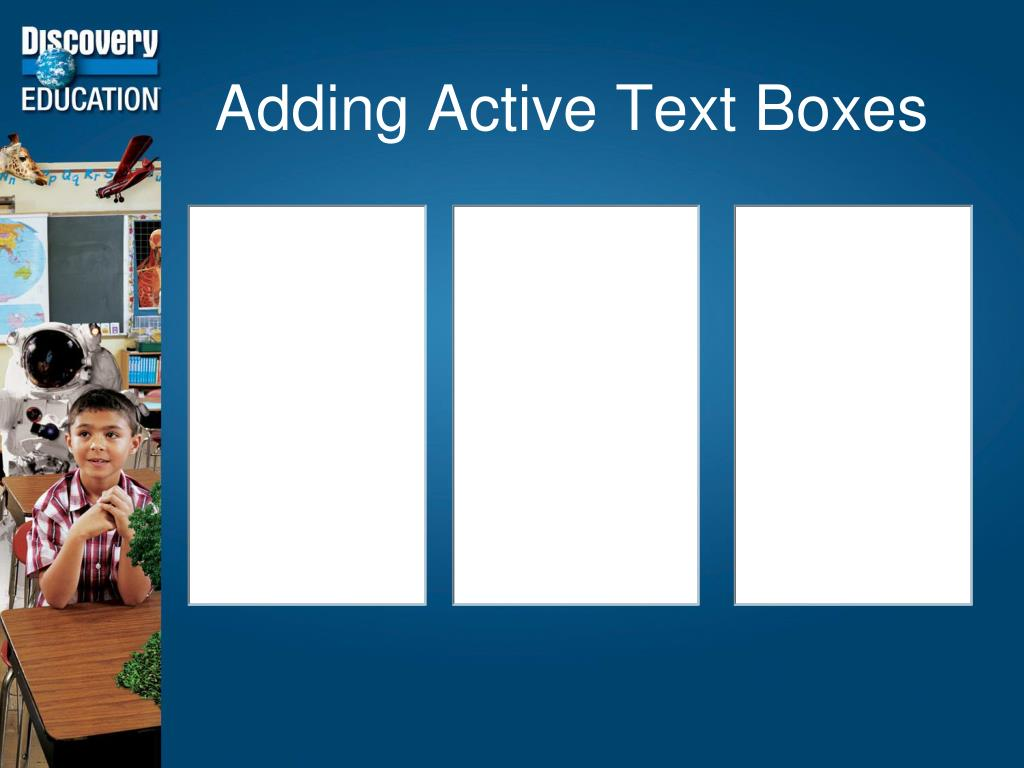 Adding Active Text Boxes