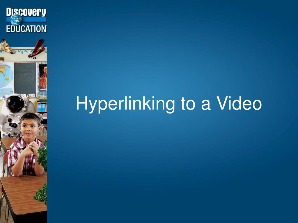 Hyperlinking to a Video