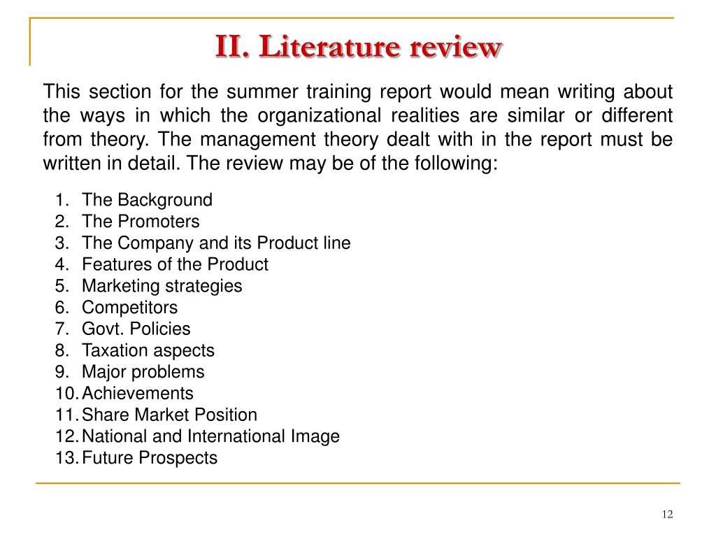 II. Literature review