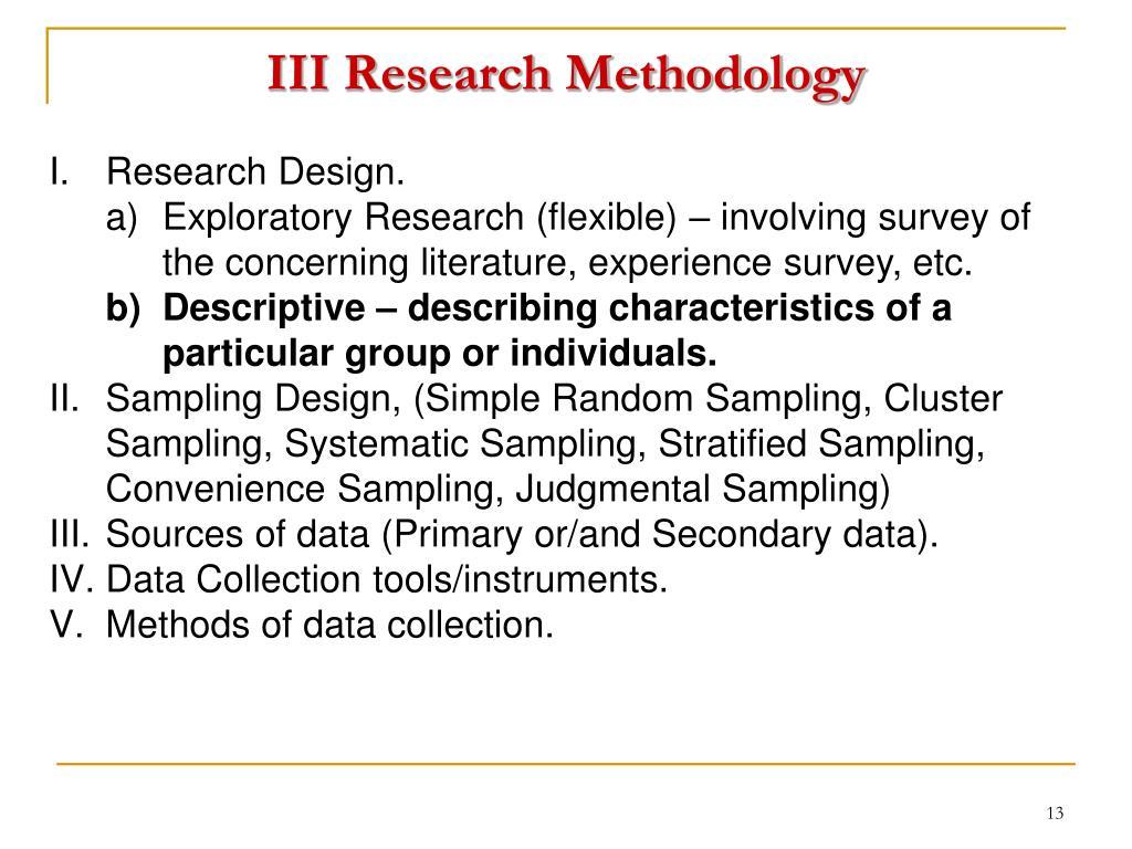 III Research Methodology