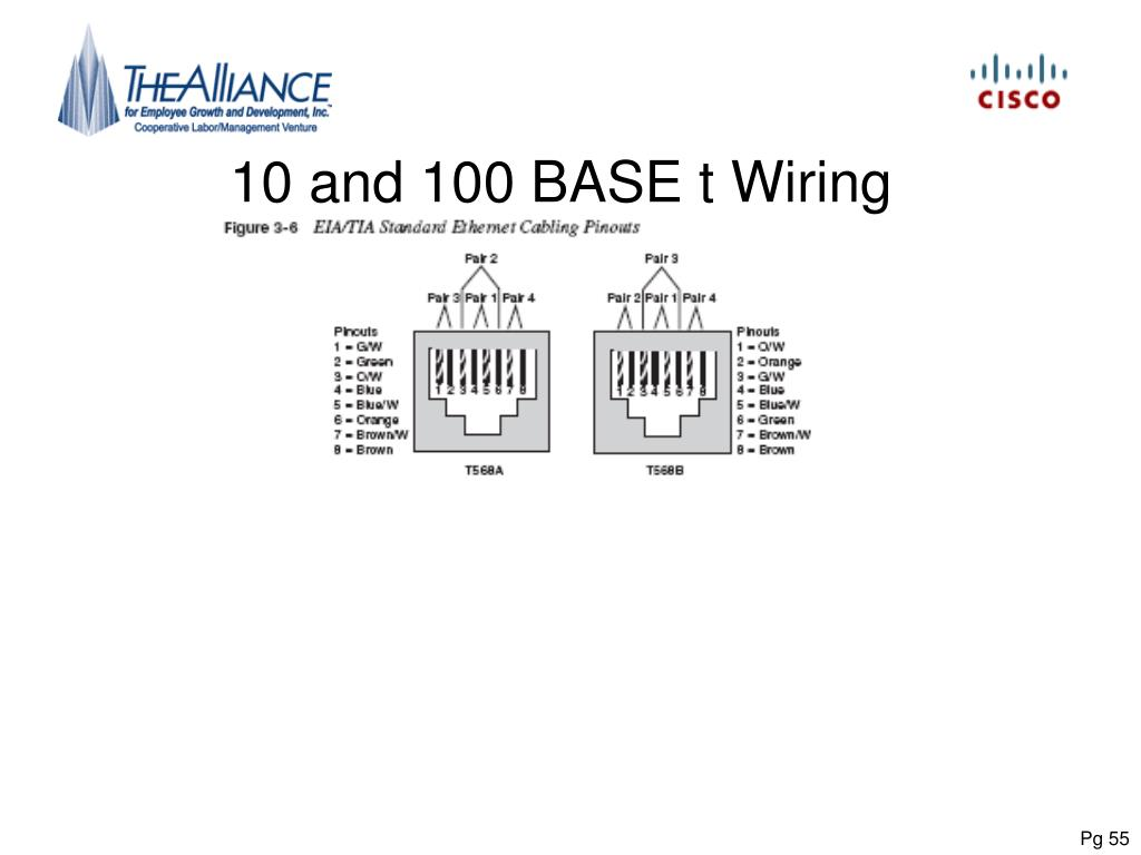 10 and 100 BASE t Wiring