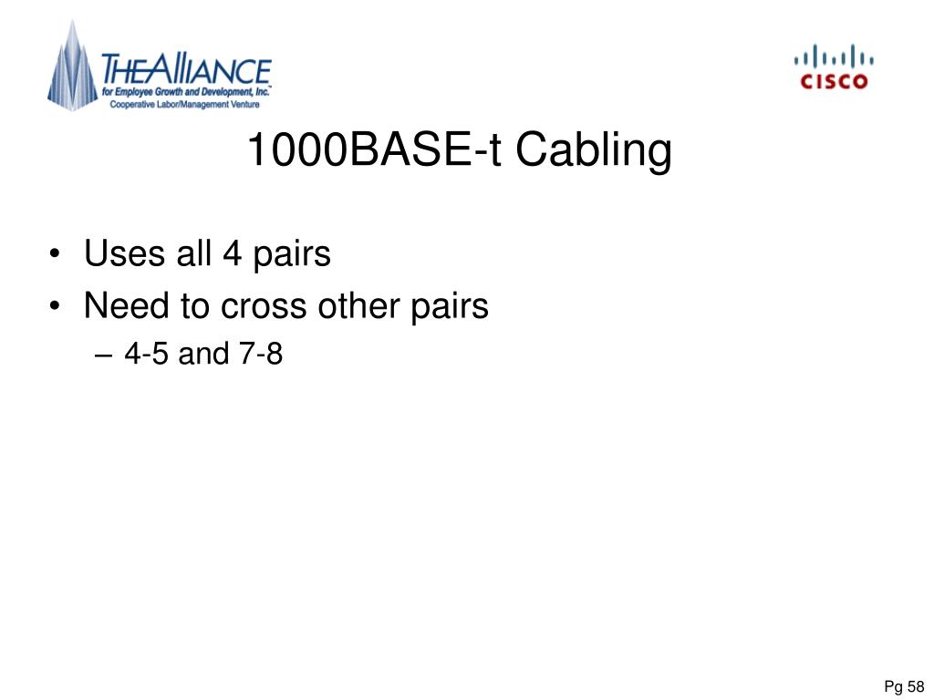 1000BASE-t Cabling