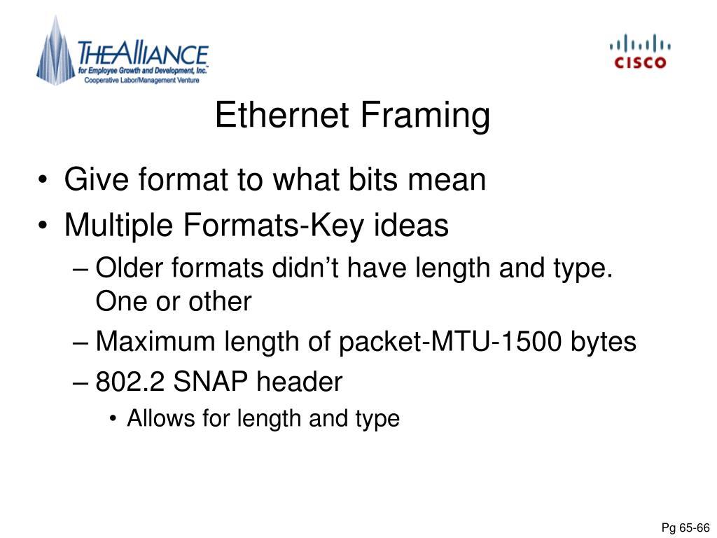 Ethernet Framing