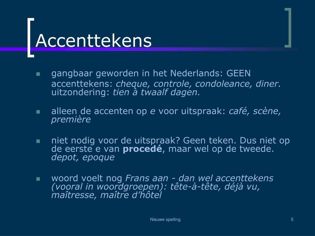 Accenttekens