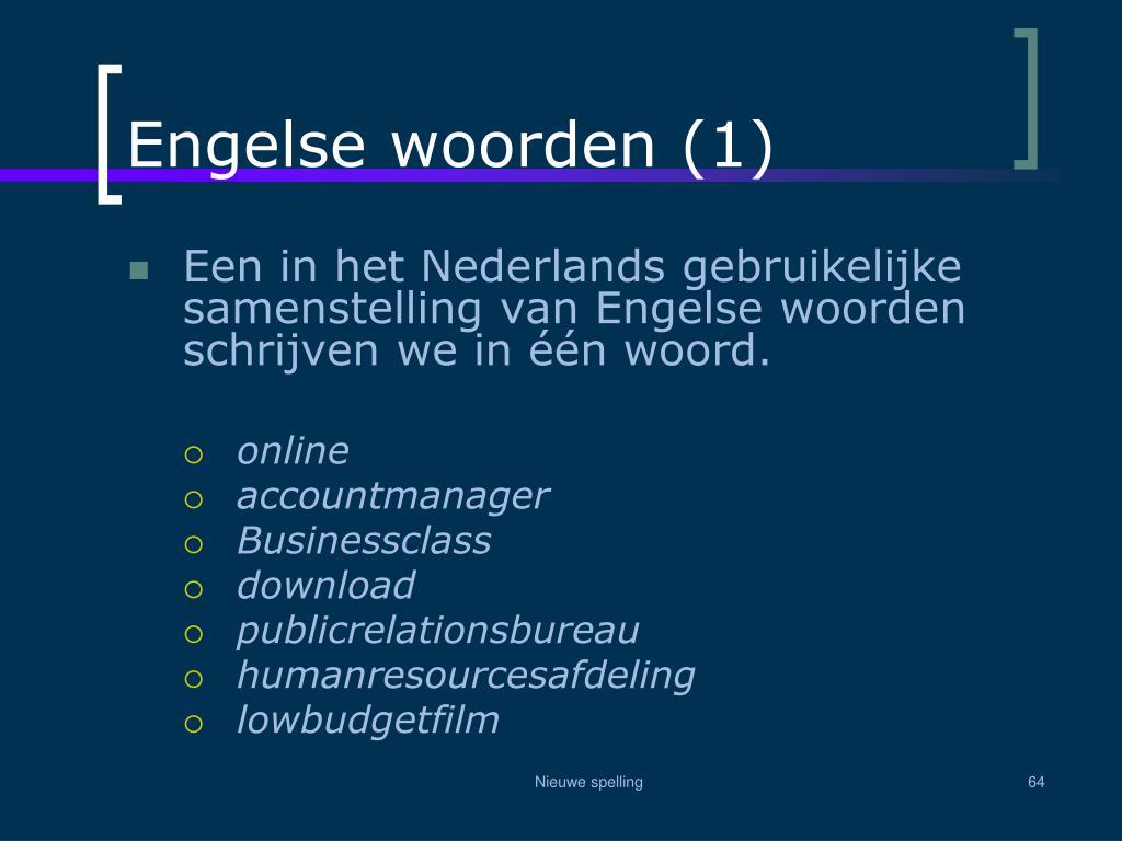 Engelse woorden (1)
