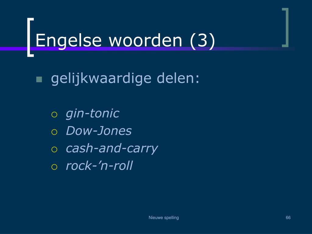 Engelse woorden (3)