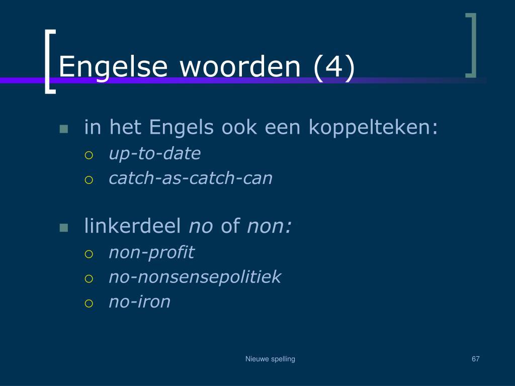 Engelse woorden (4)