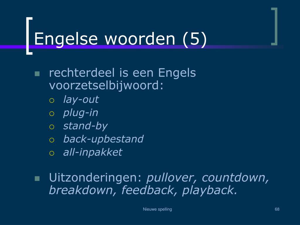 Engelse woorden (5)
