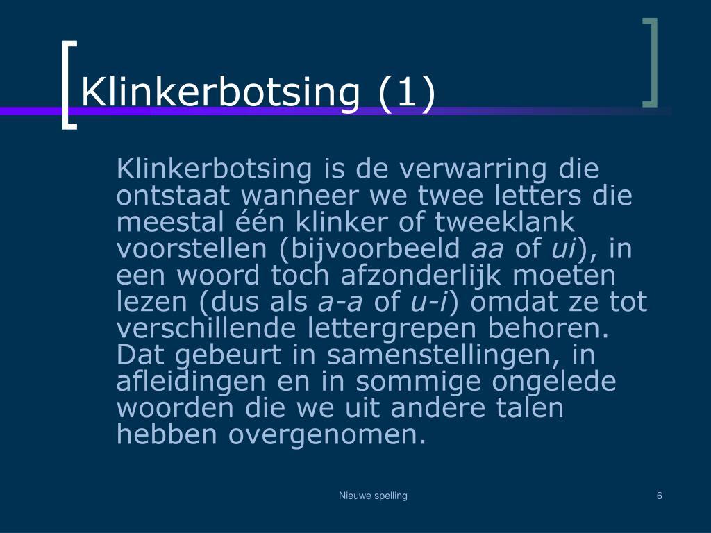 Klinkerbotsing (1)