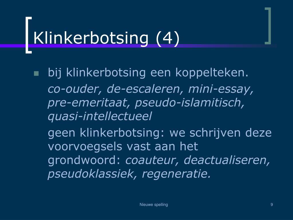 Klinkerbotsing (4)