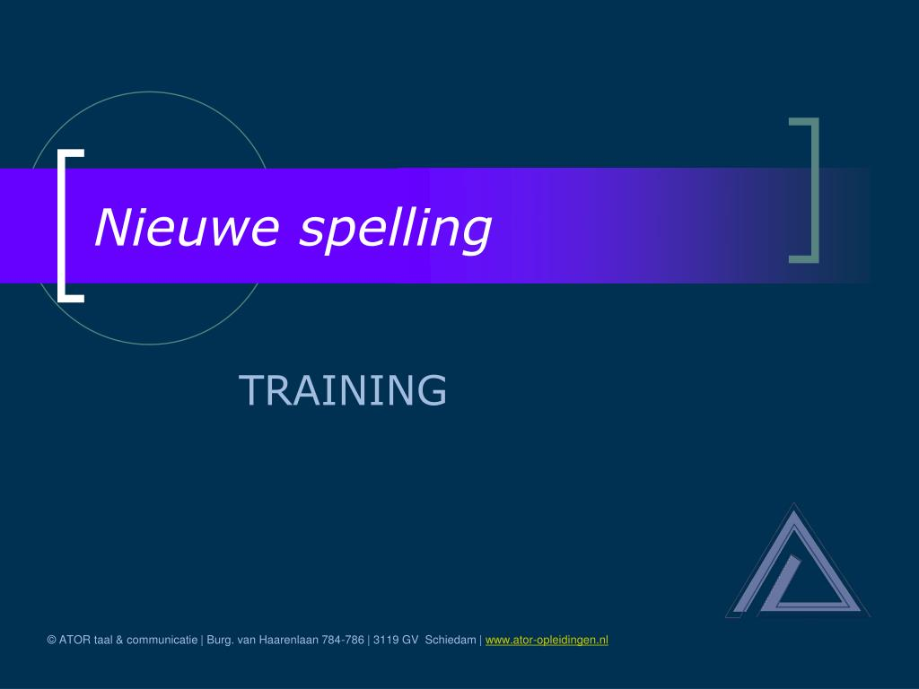 nieuwe spelling