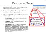 descriptive names