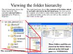 viewing the folder hierarchy