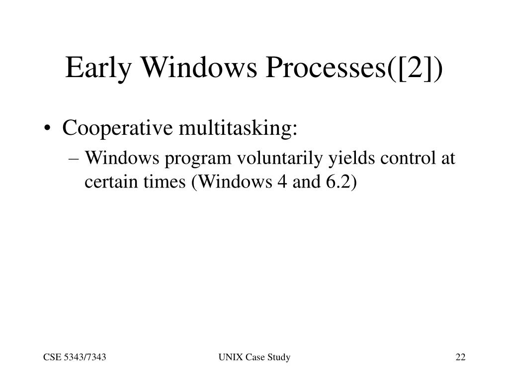 Early Windows Processes([2])