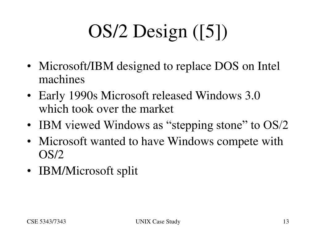 OS/2 Design ([5])