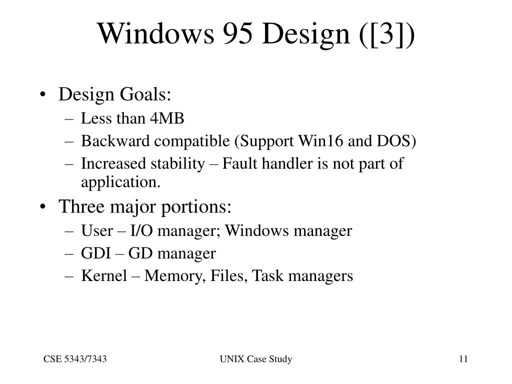 Windows 95 Design ([3])