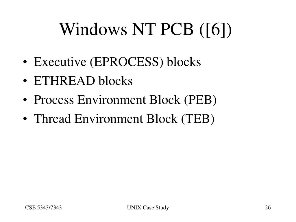 Windows NT PCB ([6])
