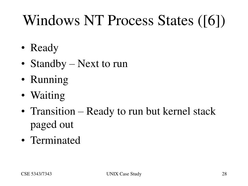 Windows NT Process States ([6])