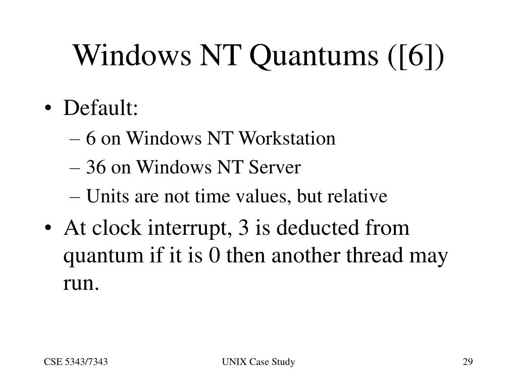 Windows NT Quantums ([6])