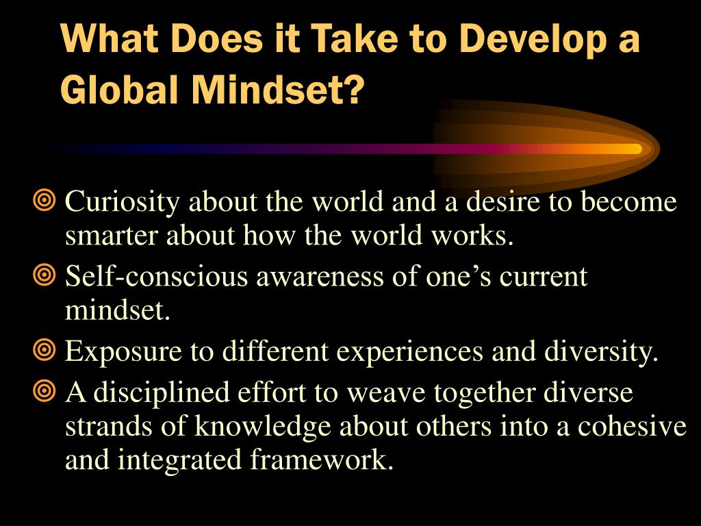 What Does it Take to Develop a Global Mindset?