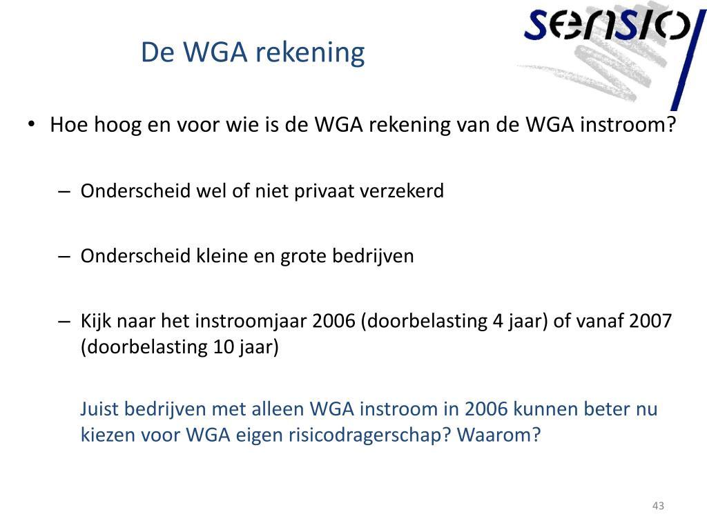 De WGA rekening