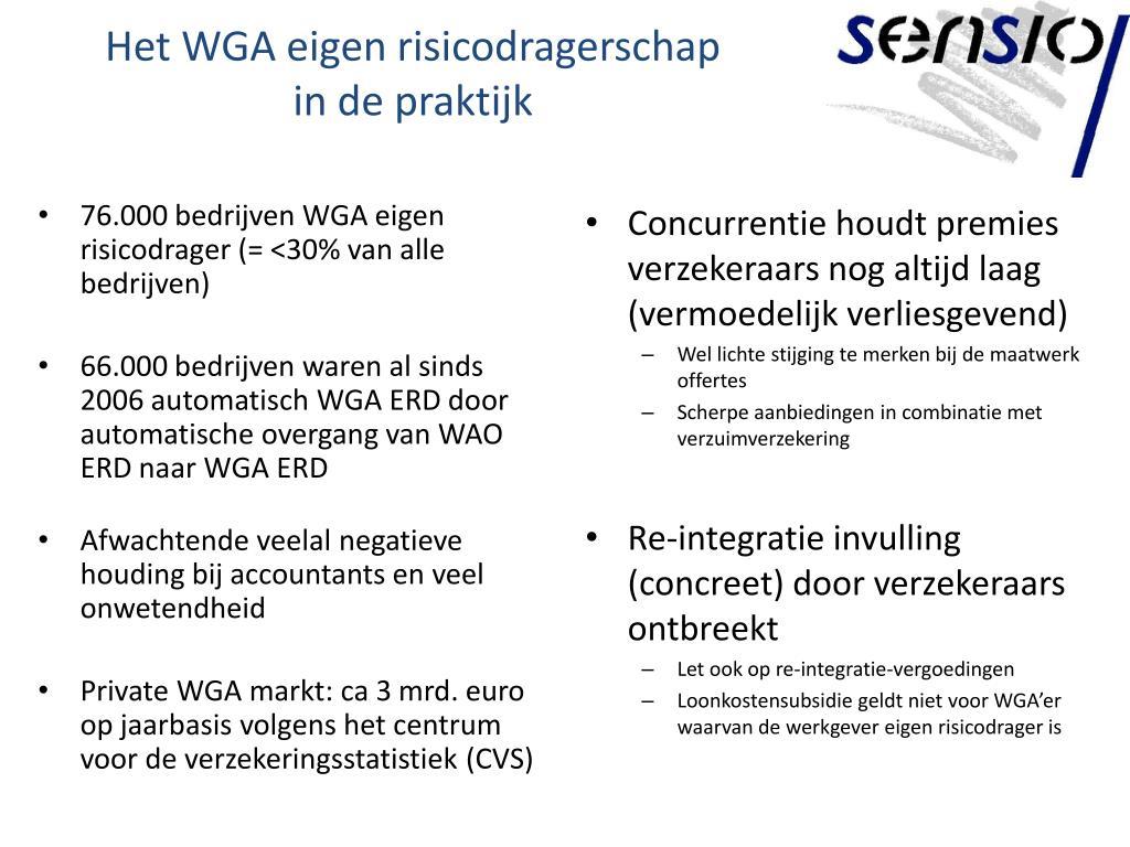 Het WGA eigen risicodragerschap