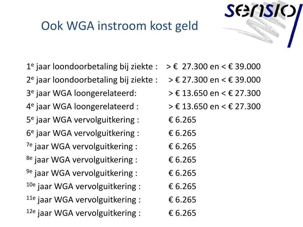 Ook WGA instroom kost geld