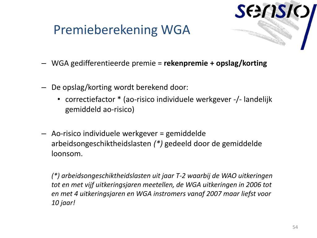 Premieberekening WGA