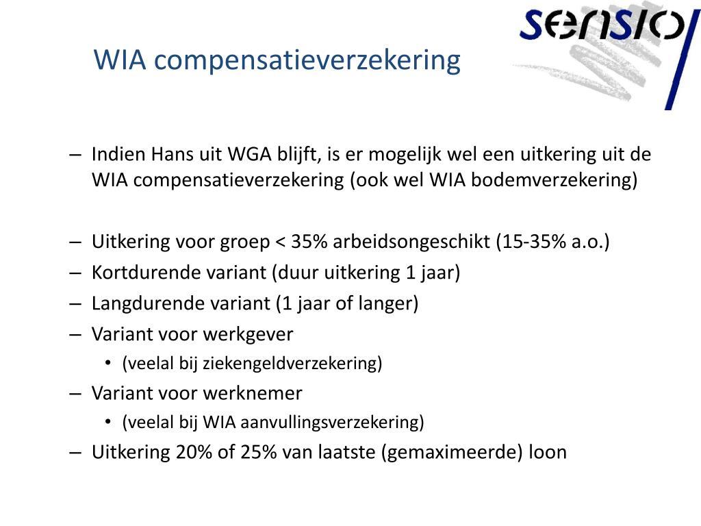 WIA compensatieverzekering