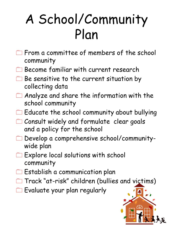 A School/Community  Plan