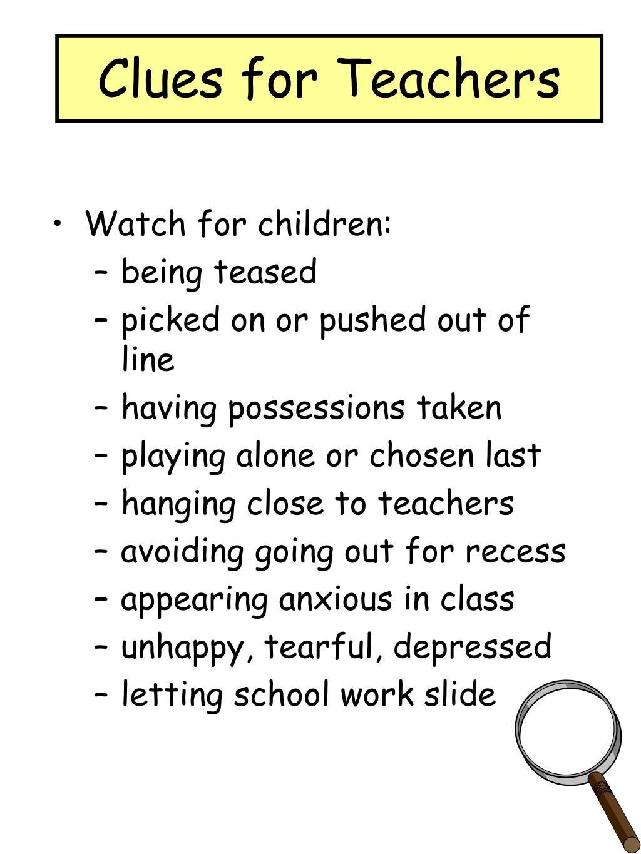 Clues for Teachers